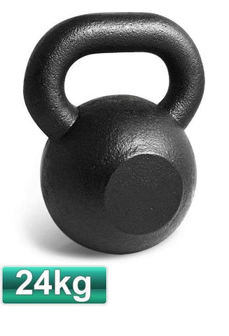 24KG CAST IRON RUSSIAN KETTLEBELL KETTLE BELL GYM WEIGHTS - sweatcentral