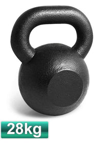 28KG CAST IRON RUSSIAN KETTLEBELL KETTLE BELL GYM WEIGHTS - sweatcentral