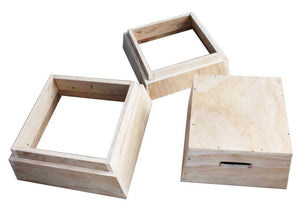 3 IN 1 TRAPEZIA WOODEN PLYOMETRIC PLYO BOX