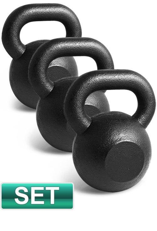 3pc SET 20KG 24KG 28KG IRON RUSSIAN KETTLEBELLS SET - sweatcentral