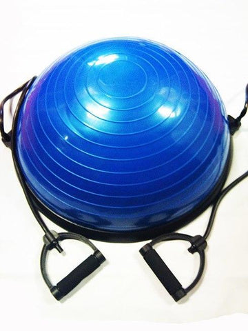 Image of BOSU EXERCISE BALL WITH RESISTANCE BANDS AND HANDLES BALANCE BALL - sweatcentral