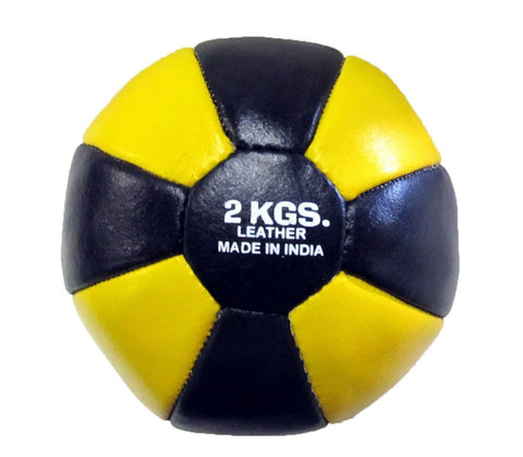 LEATHER MEDICINE BALL 2KG 3KG 5KG 7KG 9KG 10KG - sweatcentral