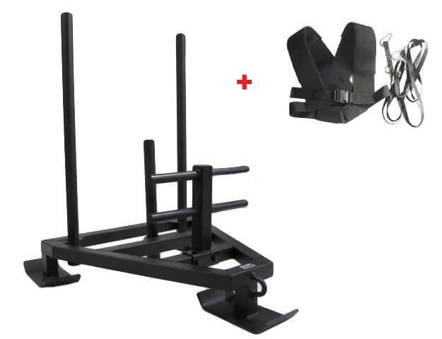 POWER SLED WITH HARNESS CROSS TRAINING STRENGTH EQUIPMENT - sweatcentral