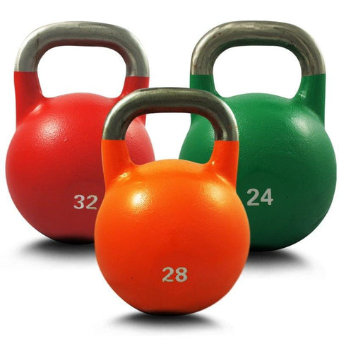 SET OF 24KG 28KG 32KG COMPETITION PRO GRADE STEEL KETTLEBELL KETTLE BELL GYM WEIGHT - sweatcentral