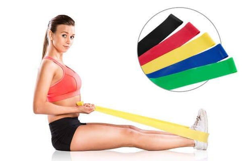SET OF 5 SIZES RESISTANCE EXERCISE MINI BANDS GYM STRENGTH - sweatcentral