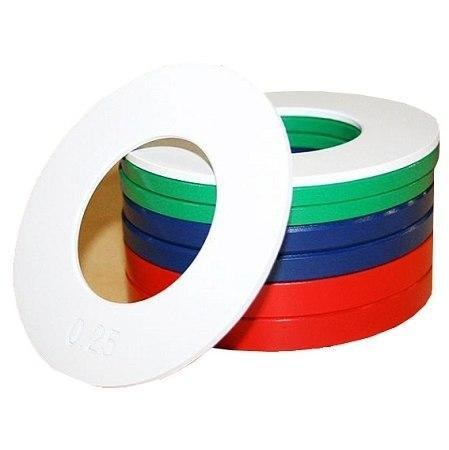 SET OF OLYMPIC FRACTIONAL WEIGHT PLATES 0.25kg - 0.5kg - 0.75kg - 1.00kg - sweatcentral