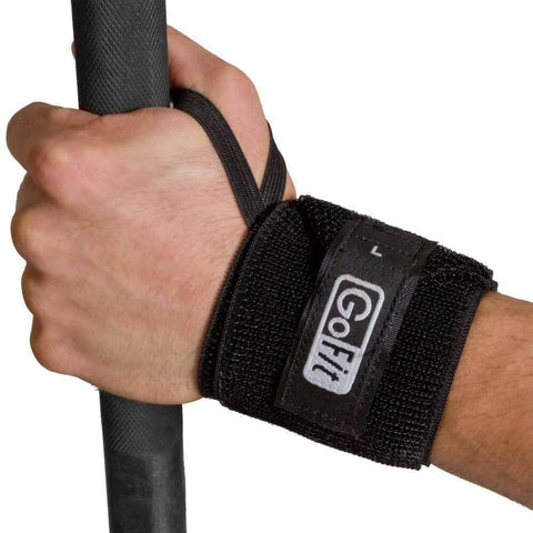 Image of GOFIT GYM WEIGHT ELASTIC WRIST SUPPORT STRAP (PAIR) - sweatcentral