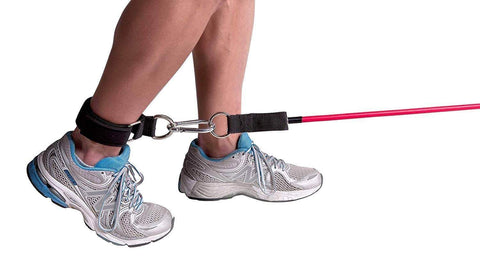 Image of GOTFIT EXTREME TUBE/BAND ADJUSTABLE NEOPRENE ANKLE STRAP WITH CARABINER - sweatcentral