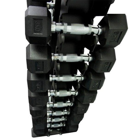 Image of 10 PAIR VERTICAL DUMBBELL STORAGE TREE RACK - sweatcentral