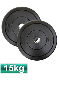 15KG OLYMPIC BUMPER GYM WEIGHT PLATES (PAIR) - sweatcentral