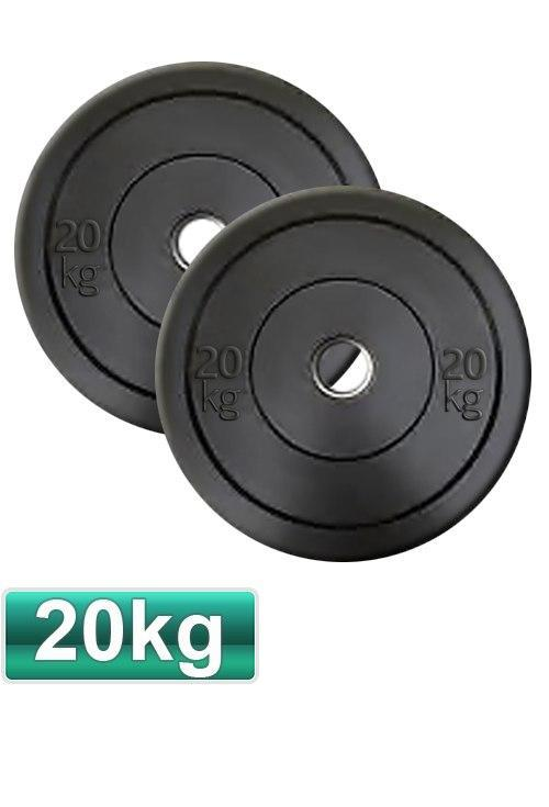 20KG OLYMPIC BUMPER GYM WEIGHT PLATES (PAIR) - sweatcentral