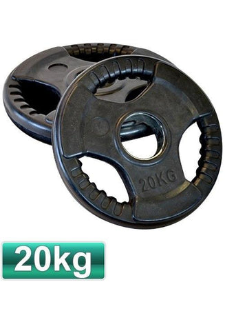 Image of 20KG OLYMPIC RUBBER WEIGHTS PLATES PAIR - sweatcentral