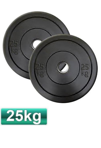 25KG OLYMPIC BUMPER GYM WEIGHT PLATES (PAIR) - sweatcentral
