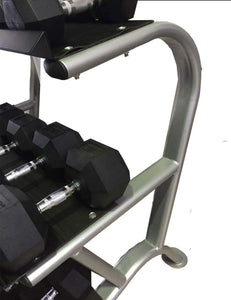 3 TIER HEAVY DUTY DUMBBELL WEIGHTS STORAGE STAND RACK GYM