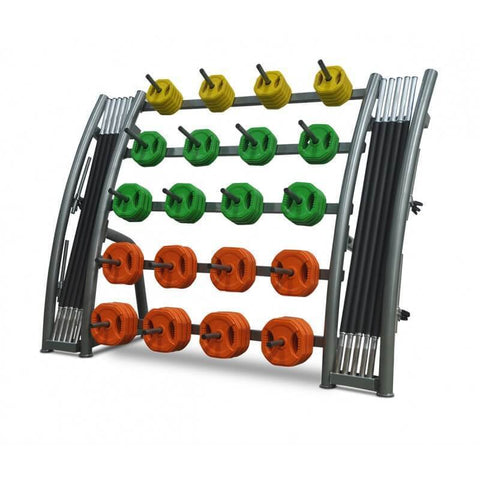 Image of AEROBIC PUMP WEIGHTS BARS STORAGE RACK - PUMP SET STORAGE RACK - sweatcentral
