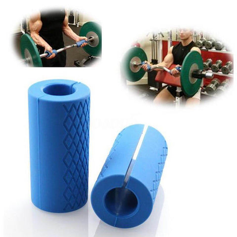 Image of FAT GRIPZ BAR ATTACHMENT POWER GRIPS | WEIGHT LIFTING FOREARM STRENGTH DUMBBELL CHINUP - sweatcentral