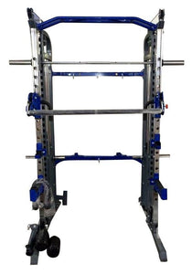 FT037 FUNCTIONAL TRAINER POWER CAGE RACK & SMITH MACHINE CABLE CROSS OVER GYM ALL IN ONE