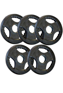 HEAVY DUTY OLYMPIC RUBBER WEIGHTS PLATES / DISCS 5 KG TO 20 KG - sweatcentral