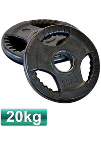 HEAVY DUTY OLYMPIC RUBBER WEIGHTS PLATES / DISCS 5 KG TO 20 KG