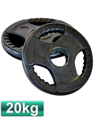 Image of HEAVY DUTY OLYMPIC RUBBER WEIGHTS PLATES / DISCS 5 KG TO 20 KG - sweatcentral