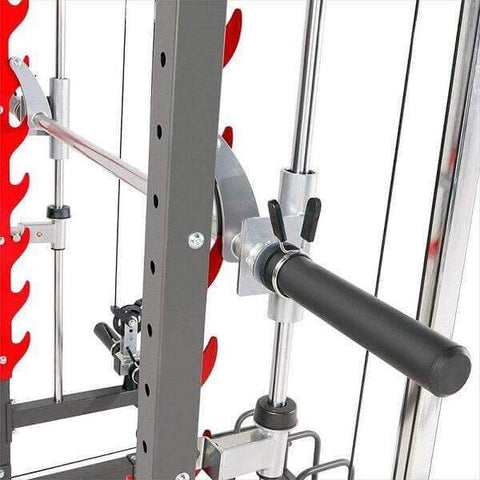 Image of MARCY MULTI FUNCTIONAL TRAINER POWER CAGE RACK & SMITH MACHINE CABLE CROSS OVER GYM ALL IN ONE - sweatcentral