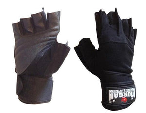 MORGAN ''SHARK'' WEIGHT LIFTING GLOVES WEIGHT LIFTING GYM GLOVES - LONG WRIST STRAP - sweatcentral