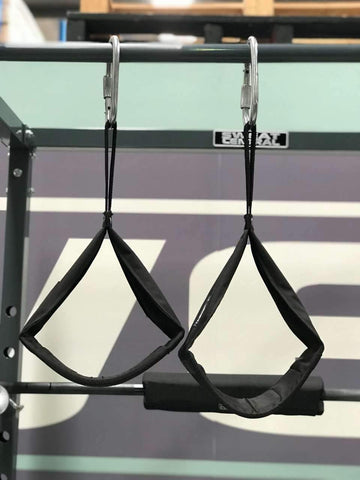 Image of PAIR OF AB SLING HANGING AB STRAP USED 4 PULL CHIN SIT UP  BAR - sweatcentral