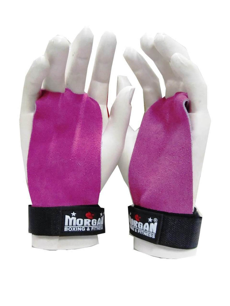 PAIR OF LADIES LEATHER PALM GRIPS FOR WEIGHT LIFTING GYM STRAPS HOOKS GLOVES BODYBUILDING WEIGHTLIFTING - sweatcentral