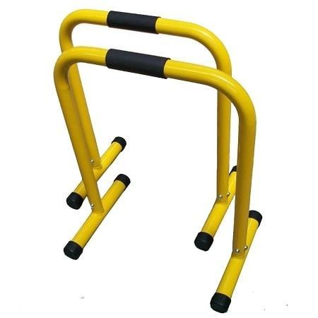 Image of Pair Parallette Equaliser Dip Bar Stands Cross Training Gymnastics - sweatcentral