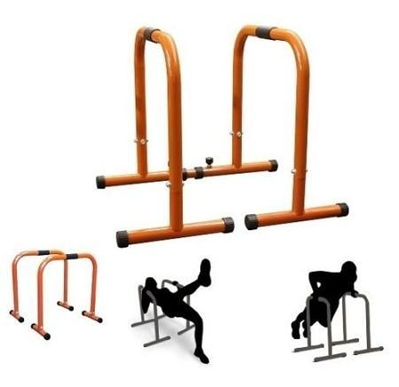 Pair Parallette Equaliser Dip Bar Stands Cross Training Gymnastics - sweatcentral