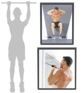 PORTABLE ADJUSTABLE EXCERCISE DOORWAY CHIN UP BAR | SIT UP BAR | PULL UPS BAR - sweatcentral
