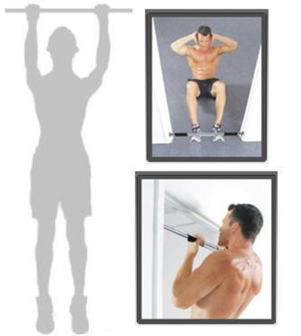 Image of PORTABLE ADJUSTABLE EXCERCISE DOORWAY CHIN UP BAR | SIT UP BAR | PULL UPS BAR - sweatcentral