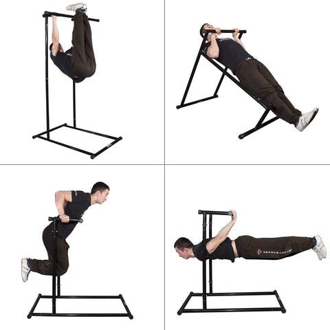 Image of PORTABLE FREE STANDING PULL CHIN UP CALISTHENICS STATION RACK - sweatcentral