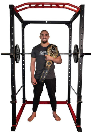 Image of PR528 WIDE POWER RACK CAGE GYM - OPTIONAL LAT & LOW ROW PULLEY - sweatcentral