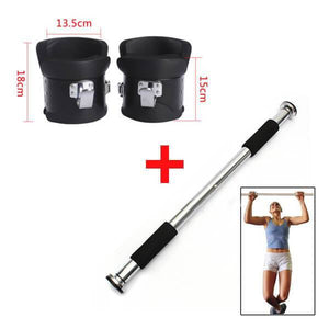 SET OF GRAVITY BOOTS & INVERSION THERAPY DOOR WAY CHIN UP BAR CROSS TRAINING GYM FITNESS PHYSIO - sweatcentral