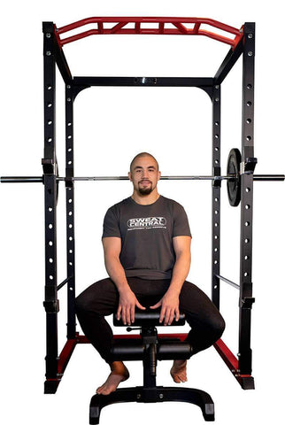 SILVER PACKAGE PR528 POWER CAGE 120kg WEIGHTS BENCH BARBELL AND MATS - sweatcentral