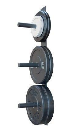 WALL MOUNTED OLYMPIC BUMPER PLATE RACK GYM STORAGE - sweatcentral