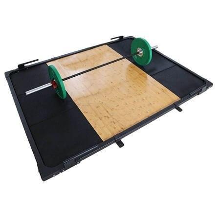 Image of Gym Equipment WEIGHT LIFTING PLATFORM WEIGHT PLATES  FLOOR MAT OLYMPIC BAR sweat central