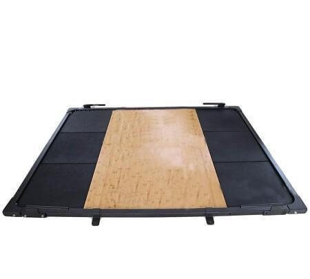 Gym Equipment WEIGHT LIFTING PLATFORM WEIGHT PLATES  FLOOR MAT OLYMPIC BAR sweat central
