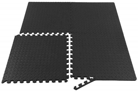 Gym Flooring Tiles Interlocking Jigsaw Stall EVA Mats 1m x 1m x 10mm - sweatcentral