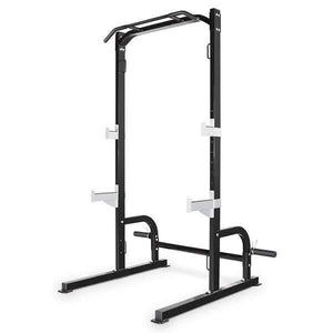 MARCY HALF CAGE SQUAT RACK BENCH PRESS PULL UP STATION WITH WEIGHT STORAGE SM8117 - sweatcentral