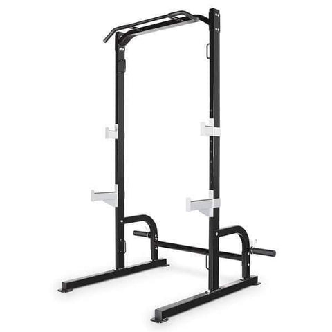 Image of MARCY HALF CAGE SQUAT RACK BENCH PRESS PULL UP STATION WITH WEIGHT STORAGE SM8117 - sweatcentral