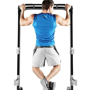 MARCY HALF CAGE SQUAT RACK BENCH PRESS PULL UP STATION WITH WEIGHT STORAGE SM8117