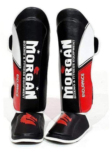 MORGAN ENDURANCE PROFESSINAL KICK BOXING SHINGUARD INSTEP PROTECTORS LEG GUARDS - sweatcentral