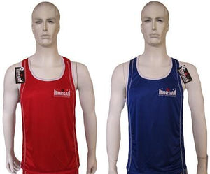 MORGAN REVERSIBLE RED/BLUE TRAINING BOXING COMPETITION SINGLET - sweatcentral