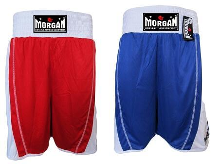 Image of MORGAN REVERSIBLE RED/BLUE TRAINING COMPETITION BOXING SHORTS - sweatcentral
