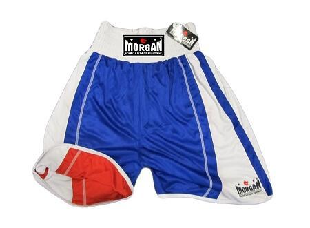 MORGAN REVERSIBLE RED/BLUE TRAINING COMPETITION BOXING SHORTS - sweatcentral