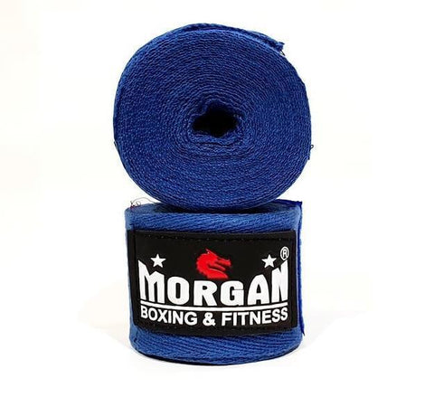 Image of PAIR OF MORGAN COTTON BOXING PROTECTIVE HAND WRAPS BANDAGE 180inch - 4m long - sweatcentral