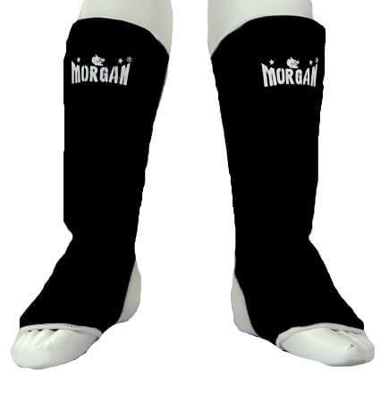 PAIR OF MORGAN ELASTIC INSTEP PROTECTORS SHIN GUARD LEG GUARD PAD DEFENDERS - sweatcentral