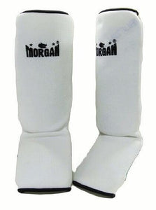 PAIR OF MORGAN ELASTIC INSTEP PROTECTORS SHIN GUARD LEG GUARD PAD DEFENDERS
